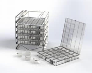 Basket, Tray and Carrier System for Aviation Fasteners