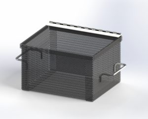 Perforated Metal Box with Lid