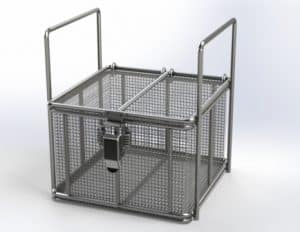 Stainless Steel Basket with Lid