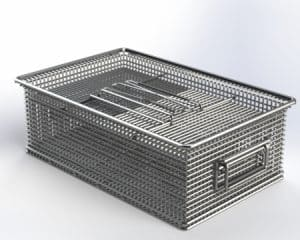 18 x 12 x 6 Stainless Steel Basket with Compression Lid